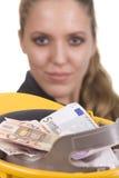 Euro 500 traped Imágenes de archivo libres de regalías
