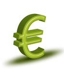 Euro. High resolution render of green 3D Euro symbol stock illustration
