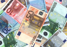 Euro. Background of colorful euro banknotes Royalty Free Stock Images