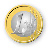 Euro. A obverse of euro coin Royalty Free Stock Image