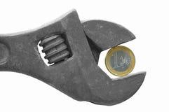 Euro aapmoersleutel stock foto's