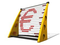 Euro abacus. 3d euro abacus over a white background Royalty Free Stock Photography