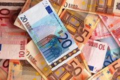 Euro achtergrond Royalty-vrije Stock Foto's