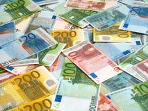 Euro achtergrond stock foto's