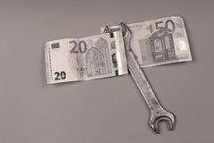 Euro achtergrond Royalty-vrije Stock Afbeeldingen