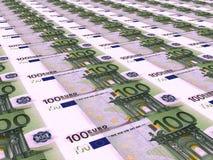 Euro achtergrond Honderd euro Stock Afbeeldingen