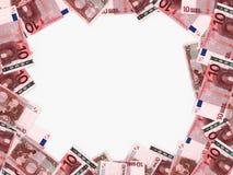 Euro achtergrond Tien Euro Stock Afbeeldingen