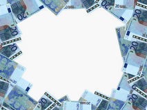 Euro achtergrond Twintig euro Royalty-vrije Stock Foto