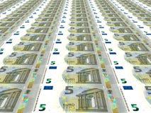 Euro achtergrond Vijf euro Royalty-vrije Stock Foto's