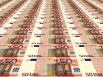 Euro achtergrond Vijftig Euro Royalty-vrije Stock Foto