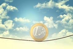 Euro acrobat Royalty Free Stock Images