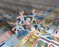 Euro acrobaten 2 stock foto