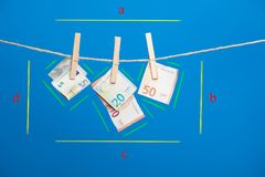 Euro actualité de monnaie légale, pour acheter sur le marché photo stock