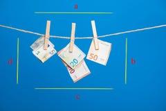 Euro actualité de monnaie légale, pour acheter sur le marché photo libre de droits