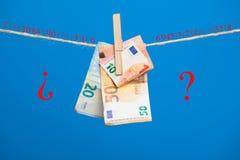 Euro actualité de monnaie légale, pour acheter sur le marché photographie stock