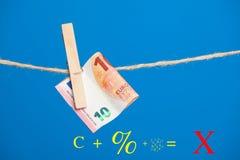 Euro actualité de monnaie légale, pour acheter sur le marché image libre de droits
