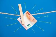 Euro actualité de monnaie légale, pour acheter sur le marché photos stock