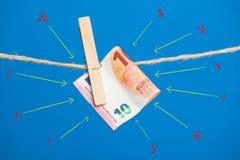 Euro actualité de monnaie légale, pour acheter sur le marché photographie stock libre de droits