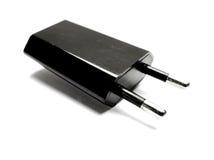 Euro adattatore del caricatore di viaggio di USB della spina Fotografie Stock