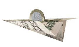 Euro aereo del documento del dollaro di guida della moneta Fotografia Stock Libera da Diritti