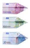 Euro aeroplani Fotografia Stock Libera da Diritti