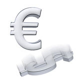 Euro against dollar Stock Photos