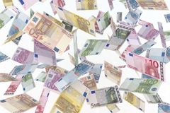Euro in the air Stock Photography