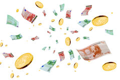 Euro in the air. Royalty Free Stock Photo
