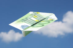 100-EURO airplane Royalty Free Stock Photos