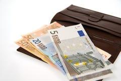 Euro aislado en blanco imagenes de archivo