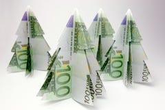 Euro alberi di Natale Fotografia Stock Libera da Diritti