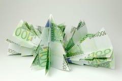 Euro alberi di Natale Fotografie Stock Libere da Diritti