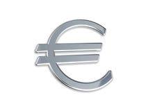 Euro alias. EURO SIGN ON A WHITE BACKGROUND Royalty Free Stock Image