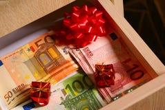 Euro als Geschenke Stockfoto