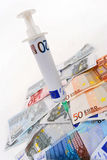 Euro ammalato Fotografie Stock