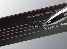 Euro Amount on Check , vector Royalty Free Stock Photos