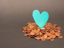 Euro amour d'argent Photos libres de droits