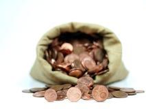 Euro & centavo Foto de Stock