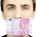 500 euro anmärkning Royaltyfria Foton