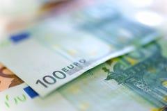 100 euro anmärkning Royaltyfri Fotografi