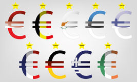 Euro area Part 1 Stock Photo