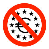 Euro area in troubles Royalty Free Stock Image