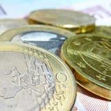 Euro argent Photos libres de droits