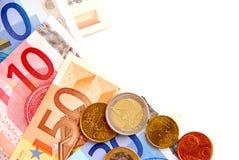 Euro argent Photographie stock libre de droits