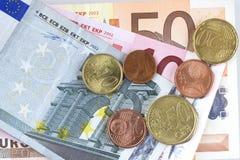 Euro argent Image libre de droits
