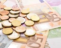 euro argent Photos stock