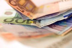 Euro argent comptant photos libres de droits