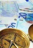 Euro argent comptant sur le cours 2 Photographie stock libre de droits