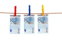 Euro argent de la corde Image stock