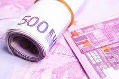 Euro argent en détail Image stock